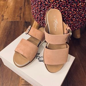 Women's Rebels Suede Sandals. Dusty Pink. Size 37.